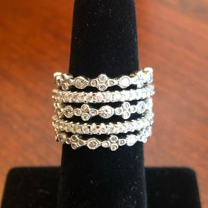 Ross Simons Sterling Silver Set of 5 Bands
